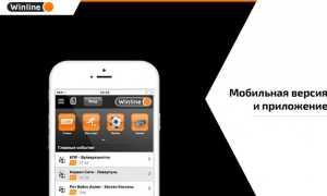 Описание мобильной версии БК Winline